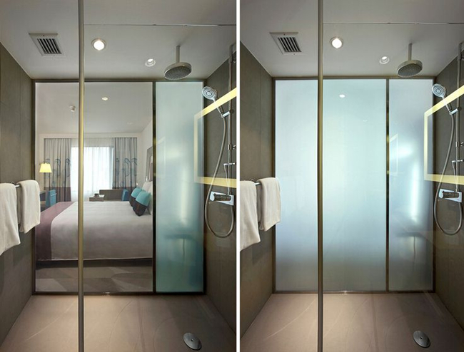 PDLC film privacy glass
