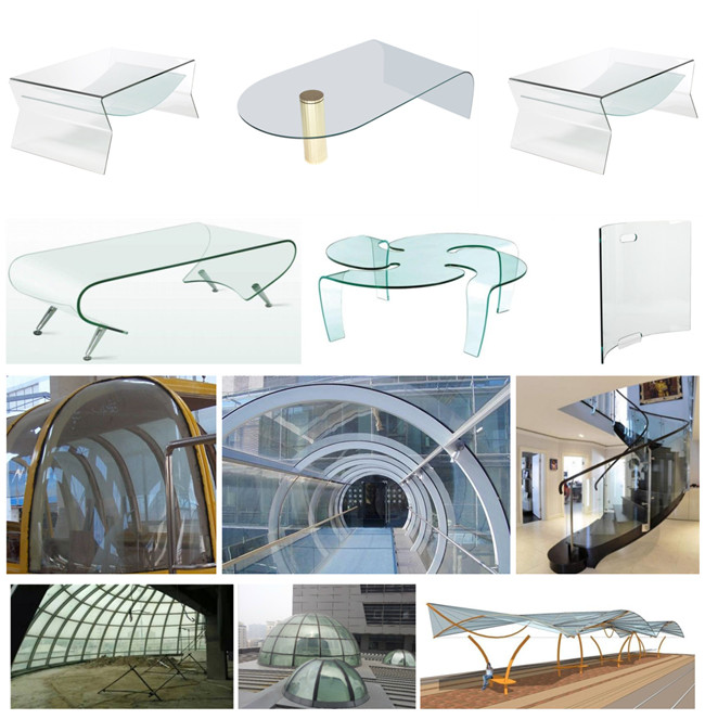 China Irregular Shape Curved Glass factory
