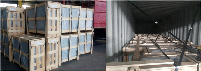 884 tempered laminated glass safety packing
