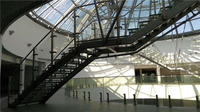 staircase and hanrail glass