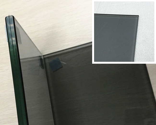 10.38mm grey color PVB laminated glass