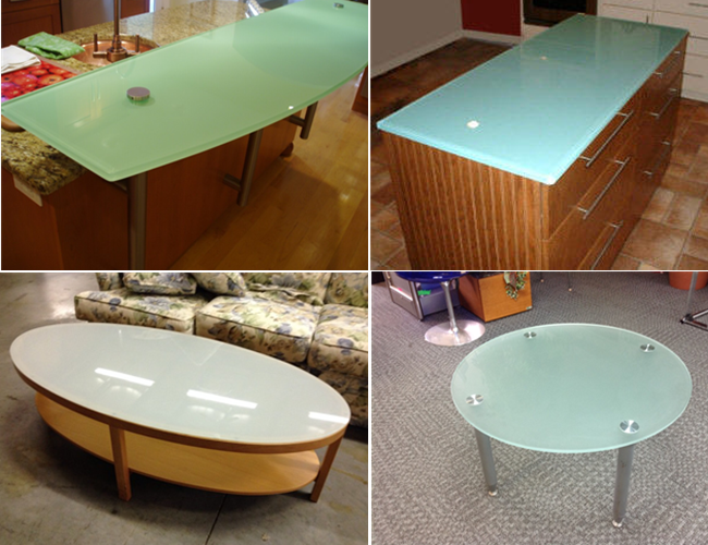 China acid etched glass table tops manufacturer