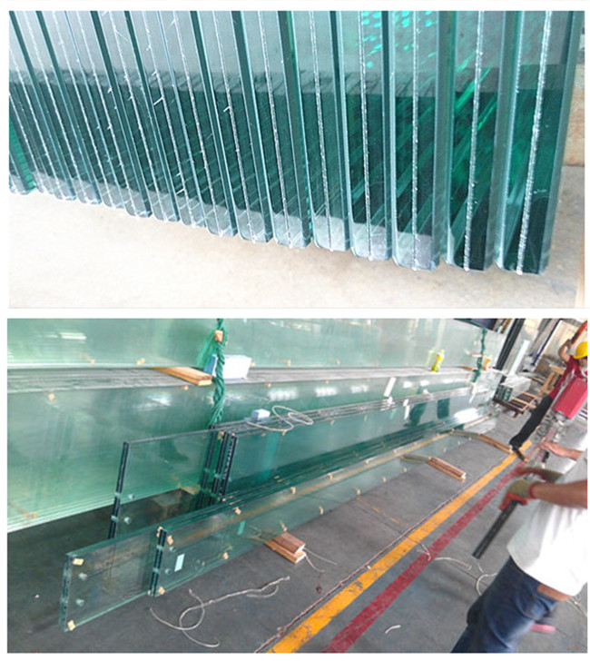 21.52mm tempered laminated glass fin
