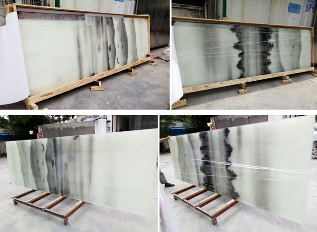 Chinese landscape painting laminated glass