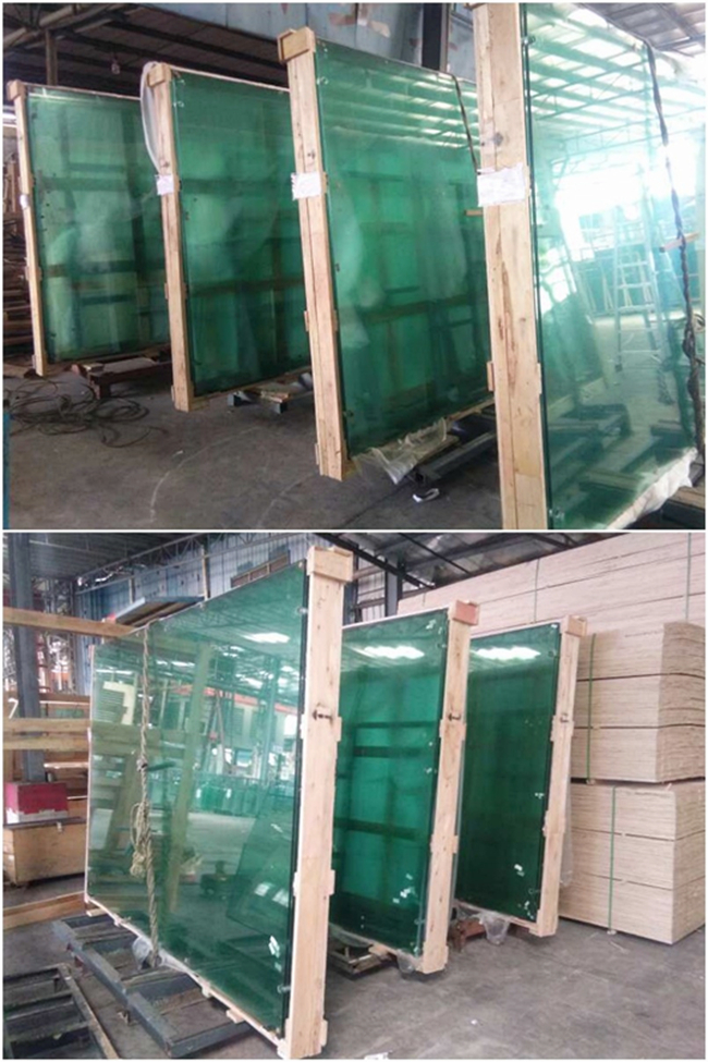 Tempered glass and tempered laminated glass