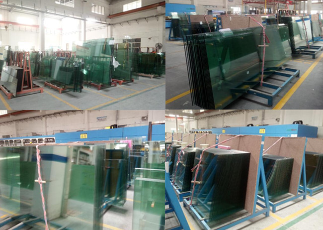 tempered toughened glass warehouse by Jimy Glass Factory