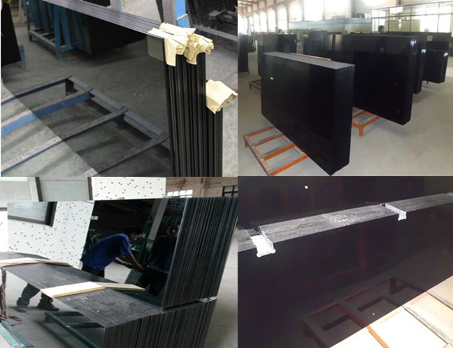 6mm black color tempered glass price