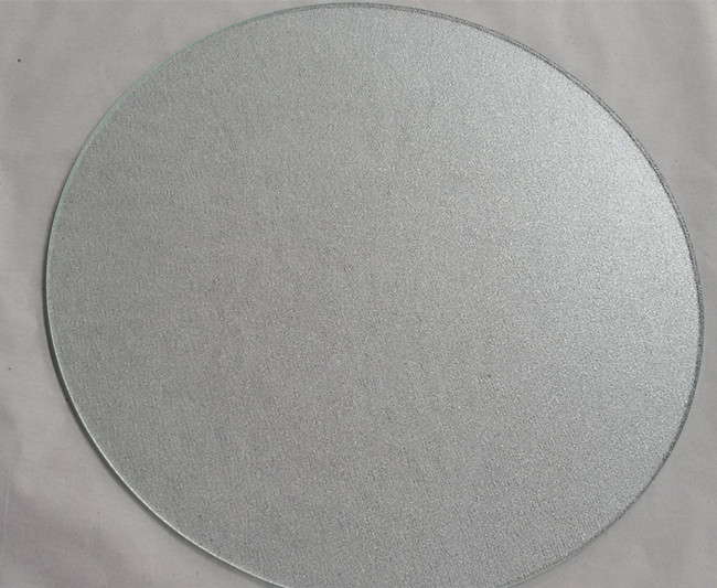 5mm round clear nashiji tempered glass top