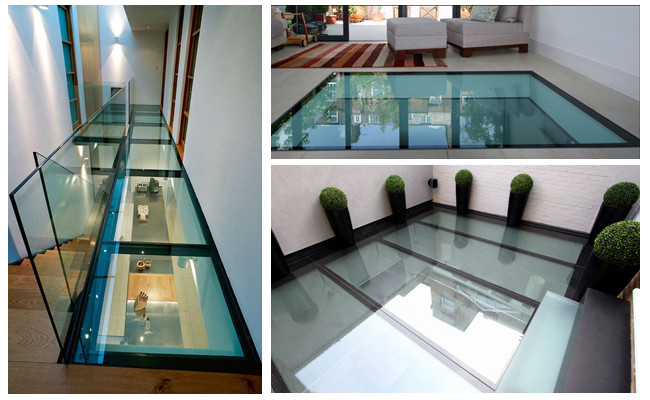 Clear 21.04mm tempered laminated glass floor