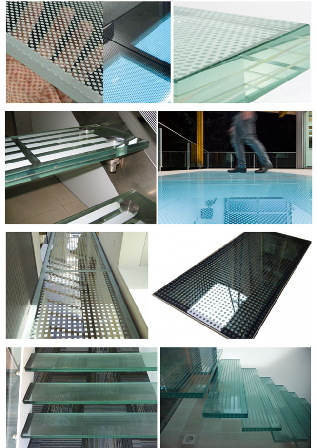 resistant laminated glass non slip flooring indoor and outdoor building security systerms