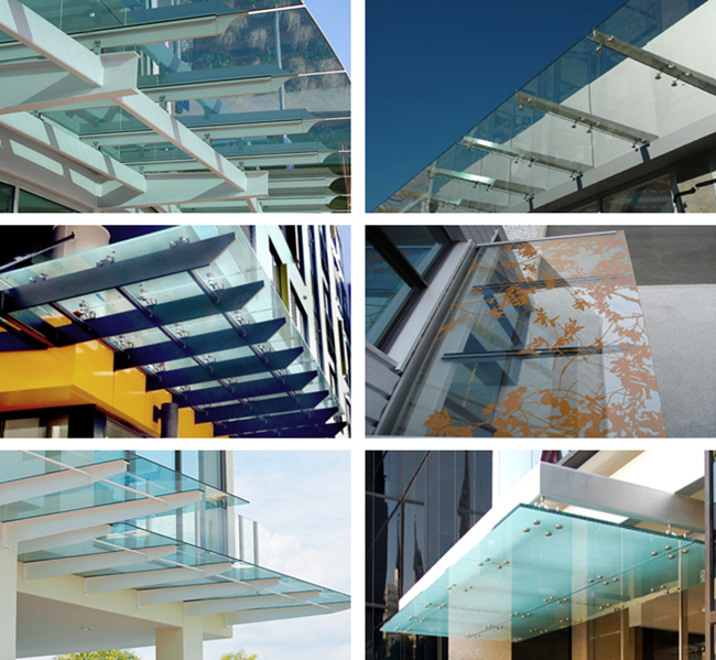 China safety tempered glass canopy