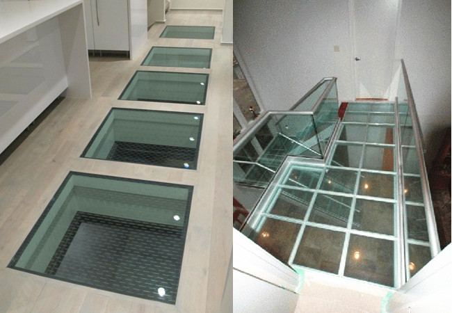 China anti slippery glass floor manufacturer