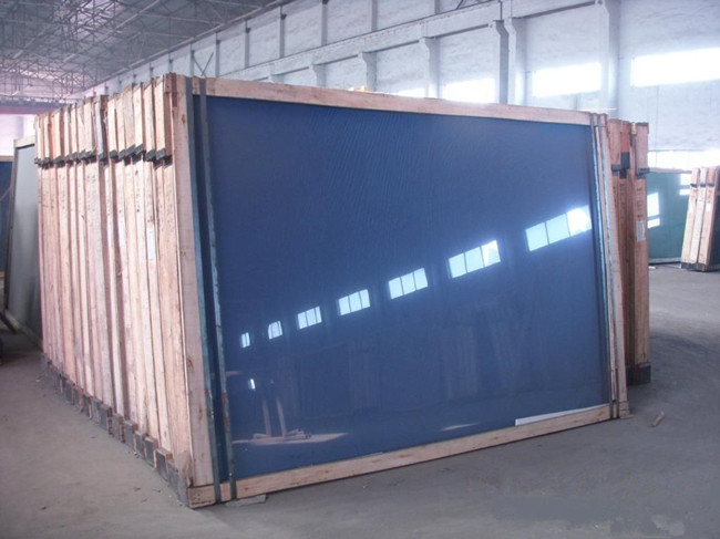 4mm Dark Blue Reflective Glass Factory