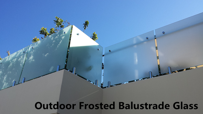 outdoor frosted balustrade glass