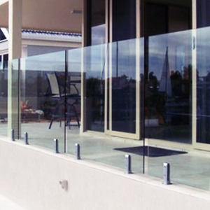 11.14mm 5+5mm frameless clear glass balustrade tempered laminated glass