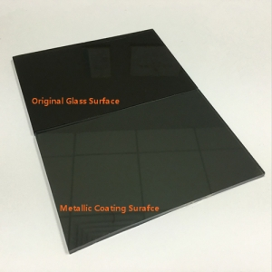 4mm dark grey reflective glass factory, 4mm black color hard coated glass, 4mm one way reflected glass supplier