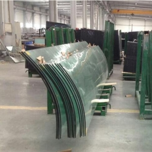 5+5mm curved laminated safety glass prices, 11.52mm bent laminated tempered glass manufacturers