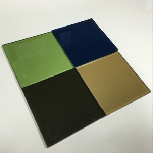 8.38mm 10.38mm reflective laminated float glass, 442 553 664 color reflective tempered laminated glass
