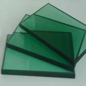 8mm green color safety decorative tempered glass China supplier