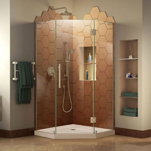 Best price home bathroom glass wall panels ,decorative curved tempered glass door wall online for sale