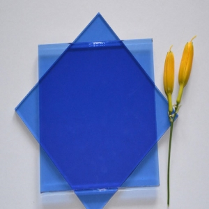 Buy cheap price 6mm dark blue color tinted float glass from China