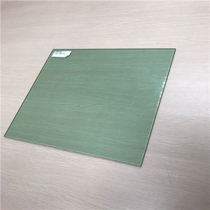 CE certificate 5mm light green color tempered toughened security glass panel price