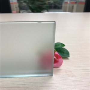 CE certification 6mm Acid Etched safety tempered glass manufacturer