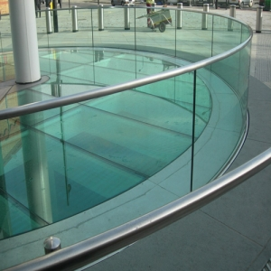 CE certified 21.52mm safety toughened laminated railing glass factory