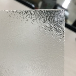 Cheap price 4mm clear Chinchilla decorative patterned glass manufacturer China
