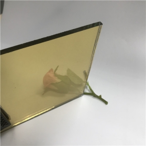 Cheap price 5mm golden tinted float reflective glass supplier China