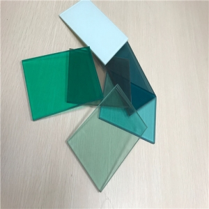 Cheap price 6.38mm color PVB laminated glass factory China
