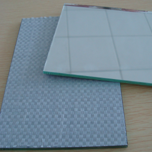 China 4mm safety mirror manufacturer, 4mm vinyl film backed mirror price, 4mm safety backed mirror factory