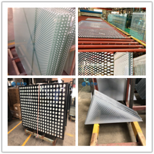 China Factory supply 8+8 10+10 silk screen printed decoration glass panels ceramic fritted safety tempered laminated glass interior and exterior building glass price