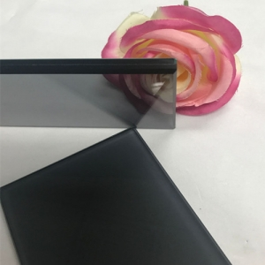 China architectural glazing 10.38mm dark grey black PVB film VSG laminated glass 551