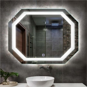 China glass factory customized Illuminated Backlit bluetooth smart magic led light bathroom mirror prices