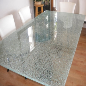 China high quality 15mm 19mm Ice cracked decorative glass countertops manufacturer