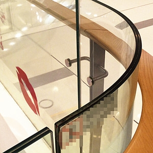 China manufacturer 17.52mm curve tempered laminated glass,color and clear 884 bend safety building glass