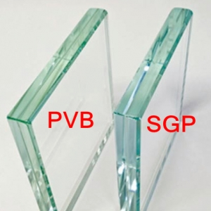 China safety SGP tempered laminated glass thickness 13.52mm, 17.52mm, 21.52mm