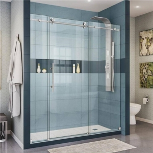 China safety bespoke 3/8 inch clear tempered shower screens glass 10mm