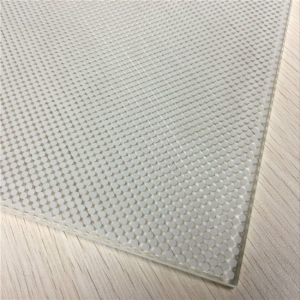China white silkscreen glass manufacturer, white color screen printing glass price,dot pattern ceramic frit glass supplier