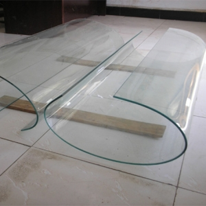 Custom high quality 5mm architectural bent curved glass
