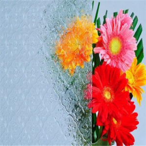 Factory price decorative 4mm clear flora patterned glass manufacturer