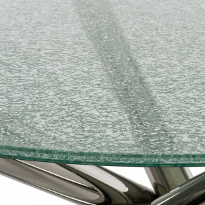 5 5 5mm Cracked Ice Glass Table Tops 5 5 5mm Clear Crackled Glass
