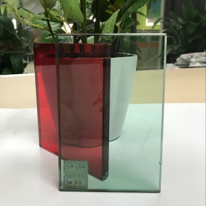 Good quality color PVB safety tempered laminated glass supplier China