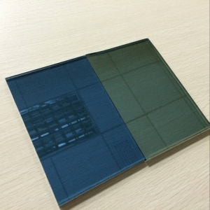 High quality good price 5mm dark blue reflective glass China supplier