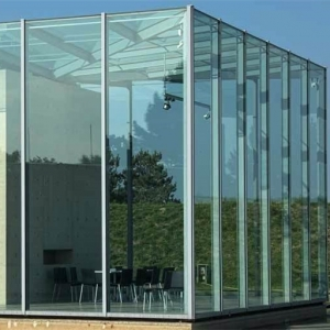 High quality safety tempered laminated double glazed frameless glass curtains prices
