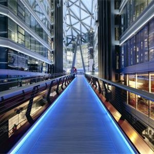 High quality switchable tempered laminated glass floor, Intelligent laminated glass bridge, Smart glass walkway