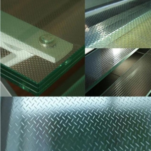 High quality tempered laminated glass floors,10+10+10mm slip resistance glass floor china