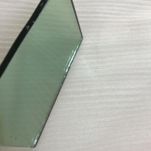 Import 4mm French green color hard coating reflective glass from China factory