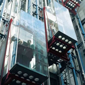 Residential commercial building dupont ultra clear PVB curved tempered laminated glass lift elevator manufacturer